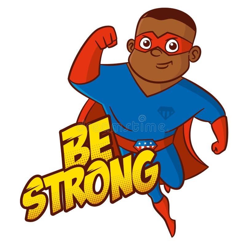 Персонаж из мультфильма супергероя иллюстрация штока