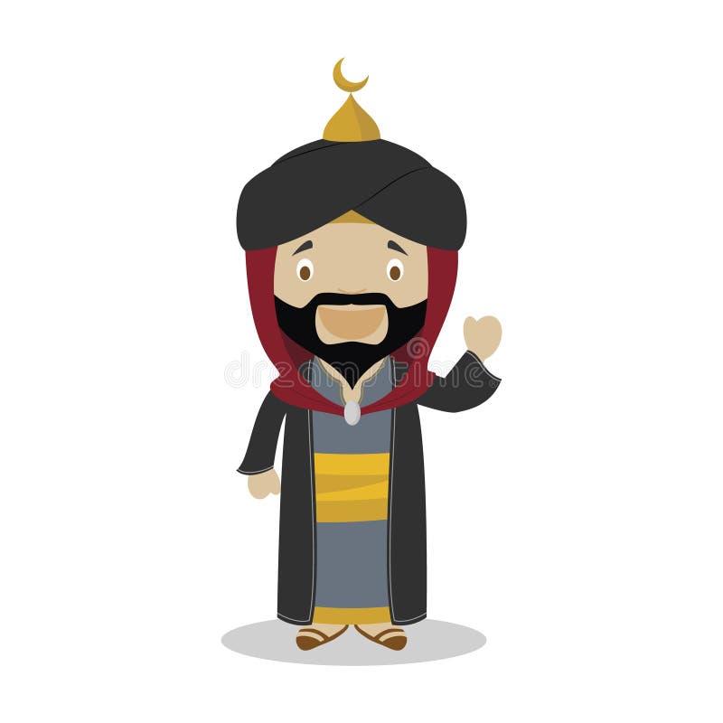 Персонаж из мультфильма Saladin также вектор иллюстрации притяжки corel иллюстрация штока