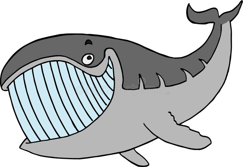 Персонаж из мультфильма wale Smiley иллюстрация штока