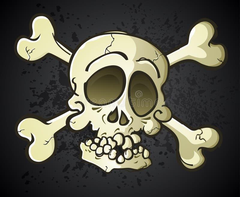 Персонаж из мультфильма Веселого Роджера черепа и кости бесплатная иллюстрация