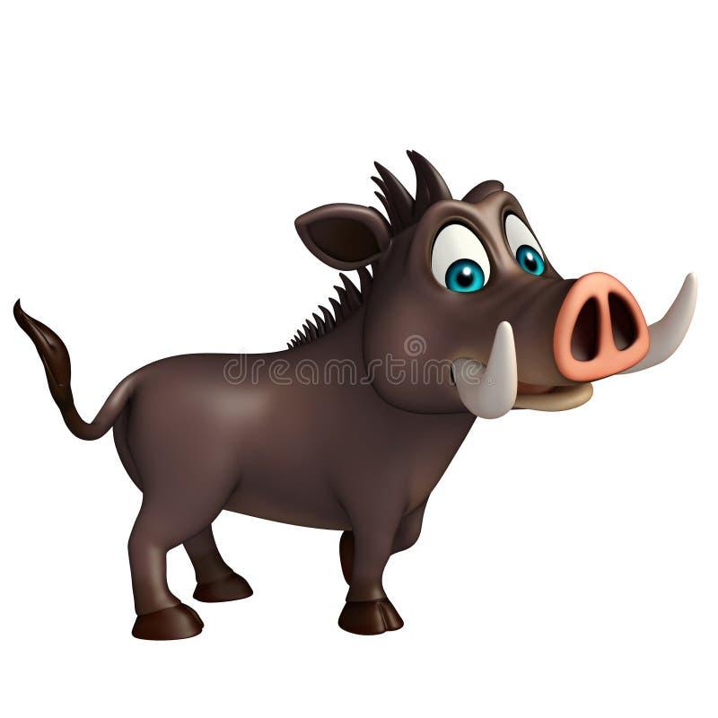Персонаж из мультфильма милого хряка смешной бесплатная иллюстрация