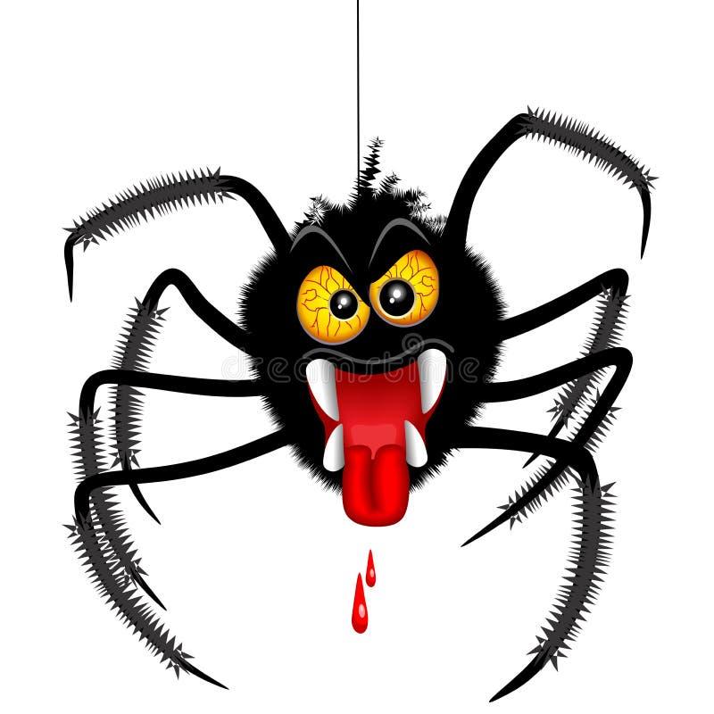 Персонаж из мультфильма паука хеллоуина пугающий бесплатная иллюстрация