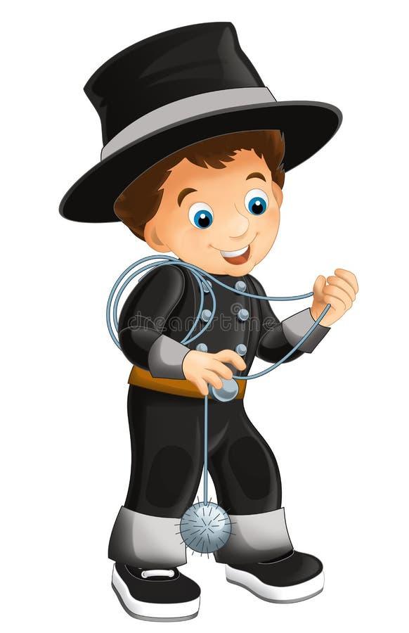 Персонаж из мультфильма - хеллоуин - иллюстрация для t иллюстрация вектора