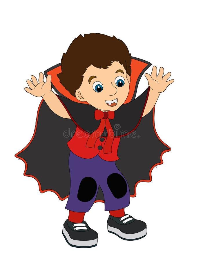 Персонаж из мультфильма - хеллоуин - иллюстрация для t иллюстрация штока