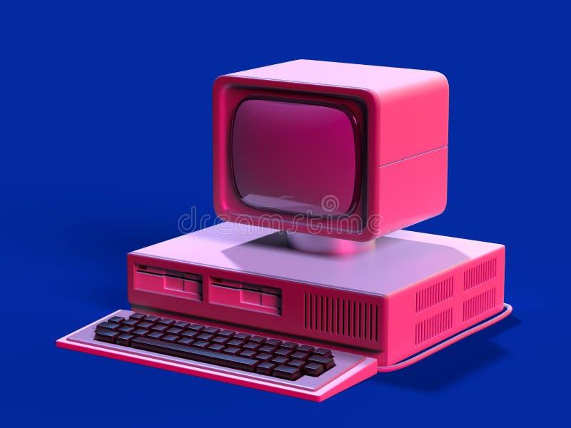 персональный компьютер стиля 80s бесплатная иллюстрация