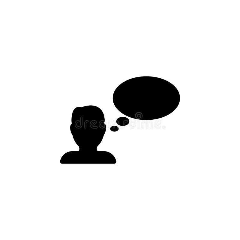 персона говорит значок Элемент minimalistic значка для передвижных apps концепции и сети Знаки и значок собрания символов для web иллюстрация штока