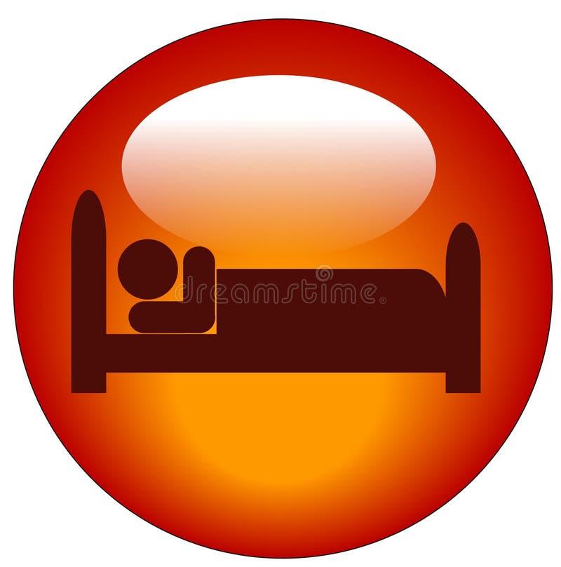 персона иконы кровати иллюстрация штока