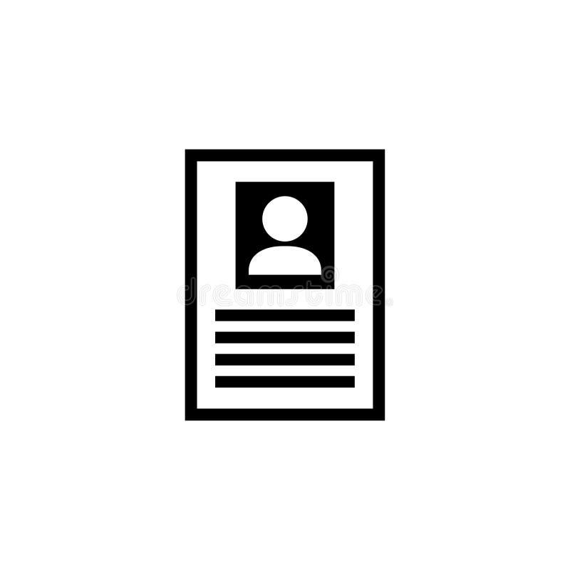 Персона информации Общий плоский значок вектора стоковое изображение