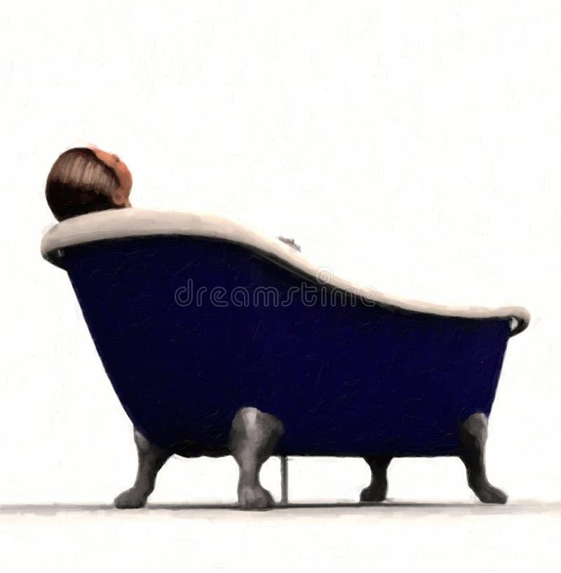 персона ноги когтя ванны иллюстрация вектора