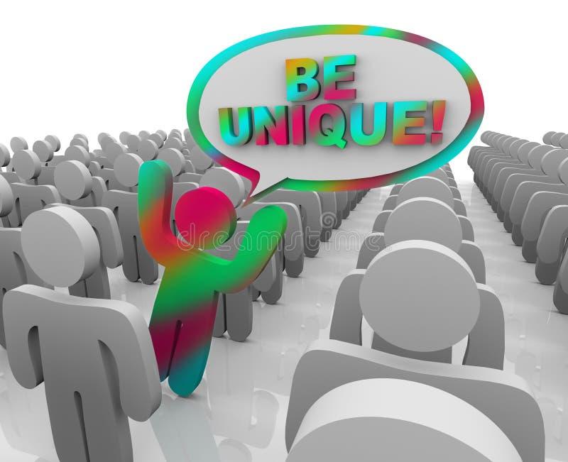 персона толпы различная вне стоя уникально иллюстрация вектора