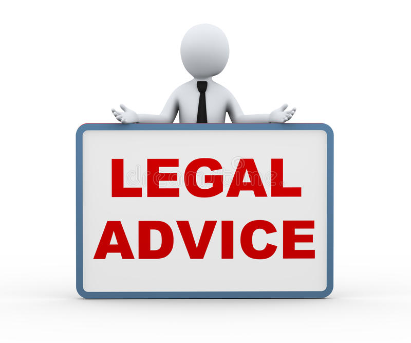 персона 3d представляя юридический совет иллюстрация штока