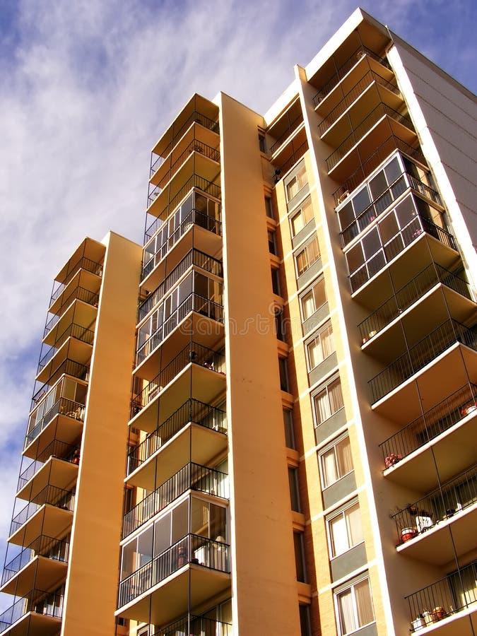 перспектива балкона квартиры стоковое фото rf