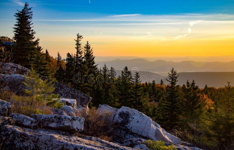 Перспектива горы вдоль фронта Allegheny стоковая фотография