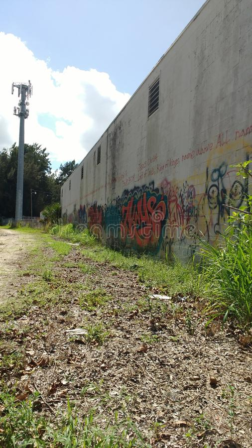 Перспектива граффити стоковые изображения