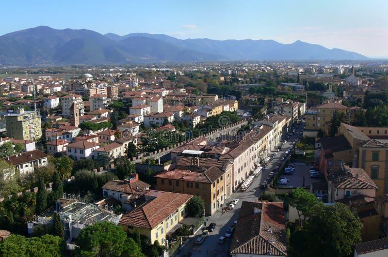 перспектива Италии Pisa Стоковая Фотография RF