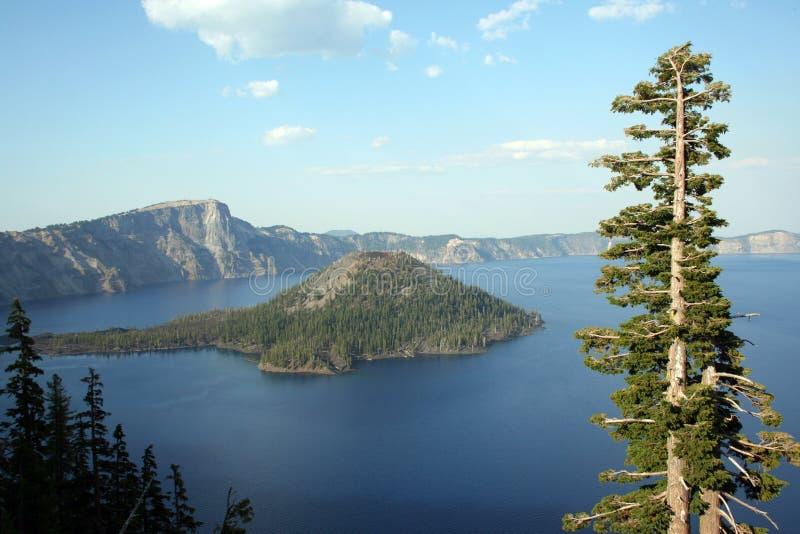 Перспектива озера кратер стоковые изображения rf