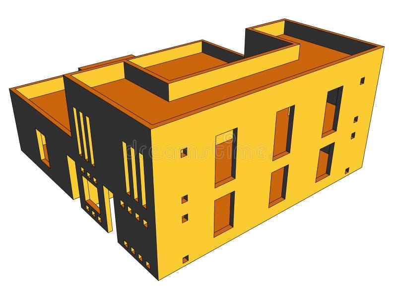 перспектива 9 домов иллюстрация штока