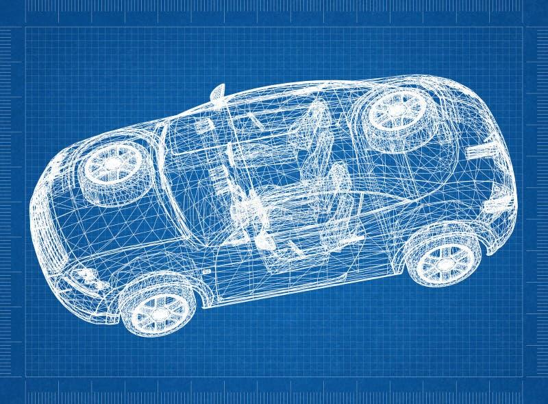Перспектива 3D †светокопии автомобиля концепции « иллюстрация штока