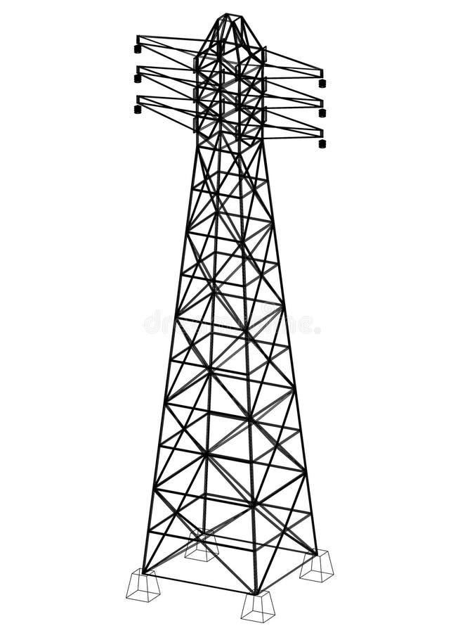 Перспектива 3D †светокопии башни « иллюстрация штока