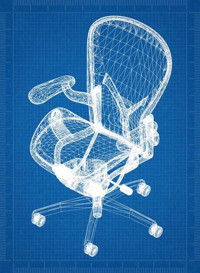 Перспектива 3D †светокопии стула « бесплатная иллюстрация