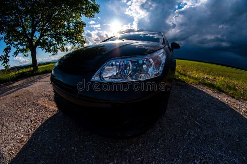 Перспектива fisheye coupe Citroen c4 стоковое фото rf