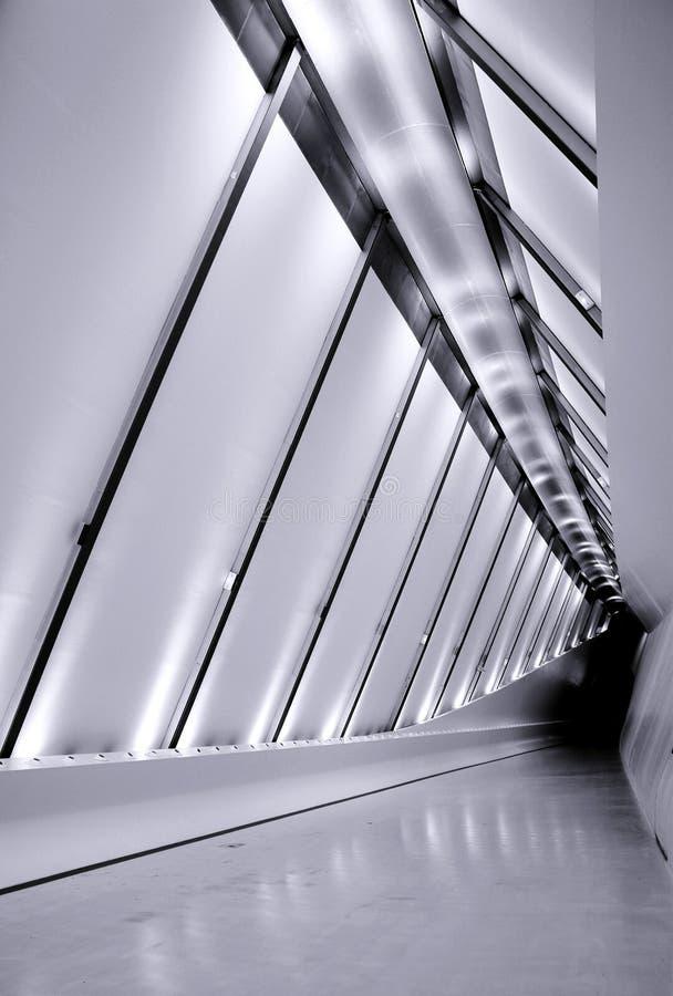 перспектива footbridge стоковые фото
