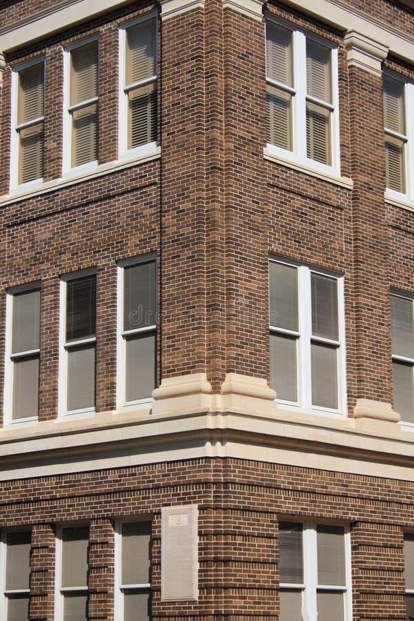 перспективы здания кирпича стоковое изображение rf