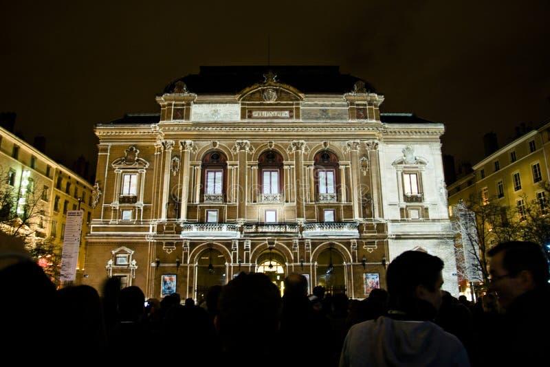 перспективы 2010 lyriques lumieres fete des стоковое изображение