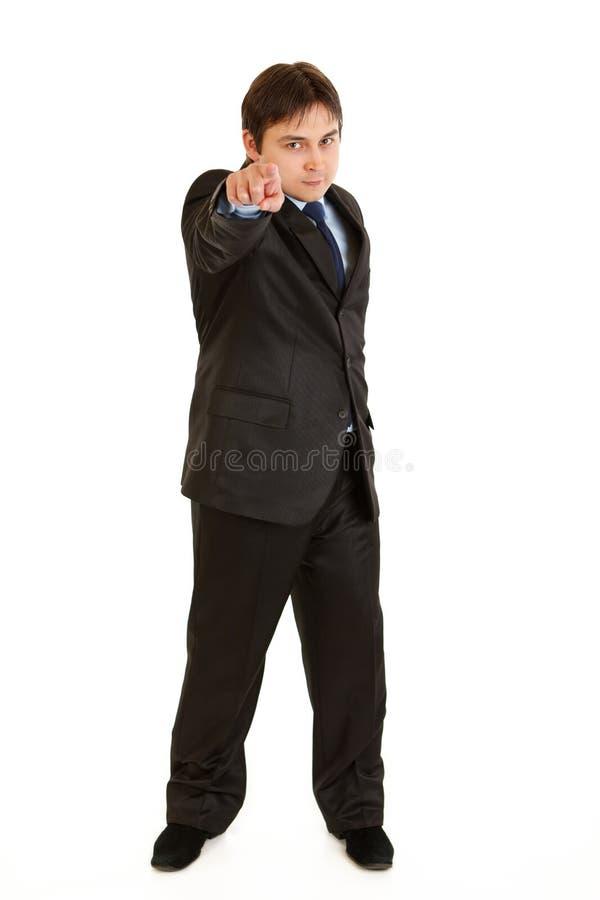 перст бизнесмена уверенно указывая вы стоковое изображение rf