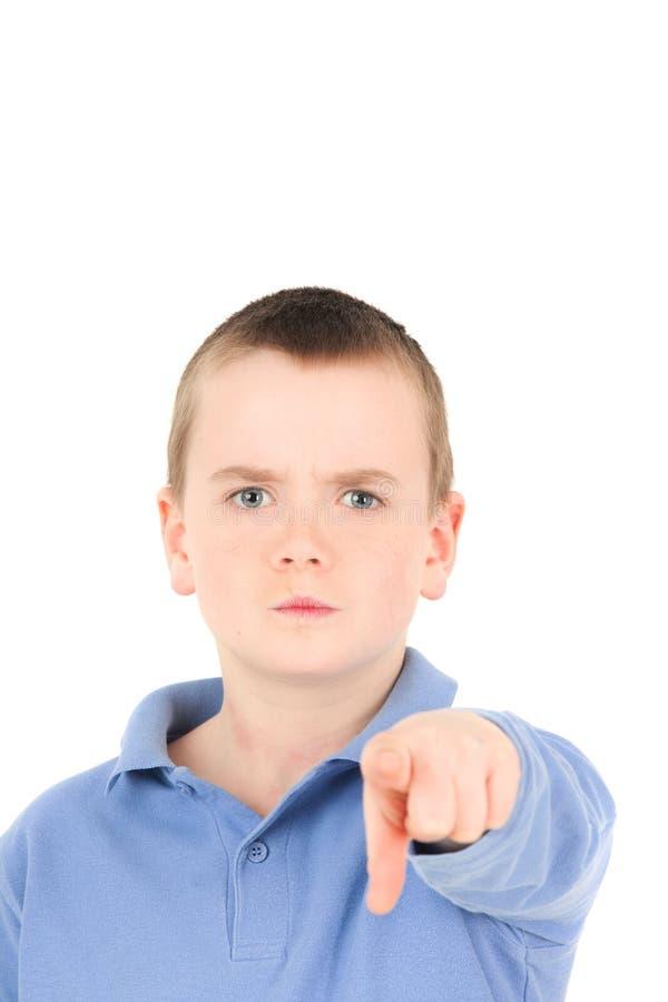 перст мальчика немногая стоковое изображение