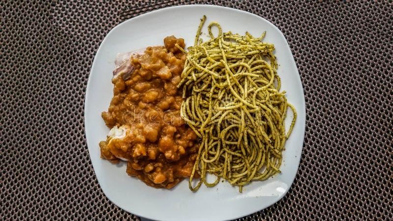 Перуанская еда: Sopa Seca стоковое изображение rf