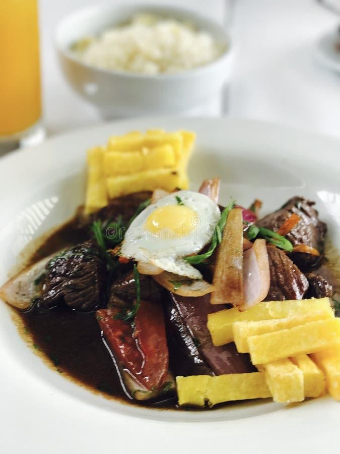 Перуанская еда стоковое изображение