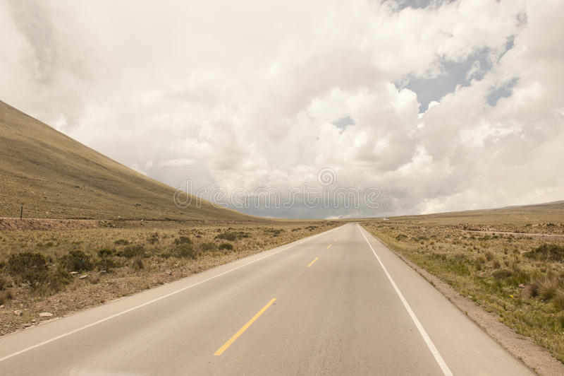 Перуанская проезжая часть стоковая фотография