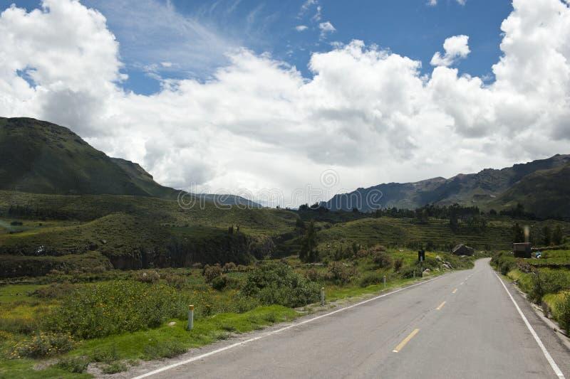 Перуанская проезжая часть стоковое фото