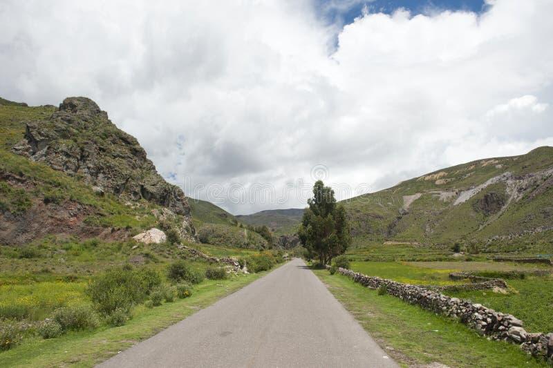Перуанская проезжая часть стоковое изображение