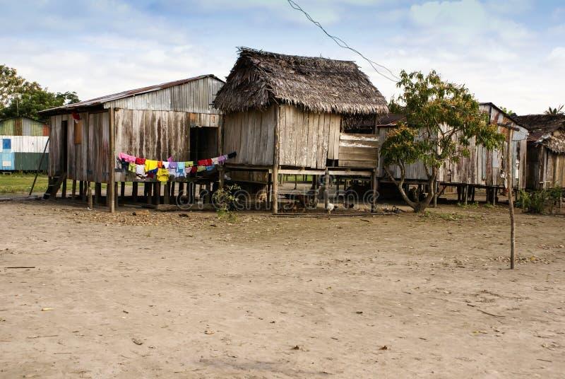 Перу, перуанский ландшафт Amazonas. Настоящий момент фото типичный внутри стоковая фотография