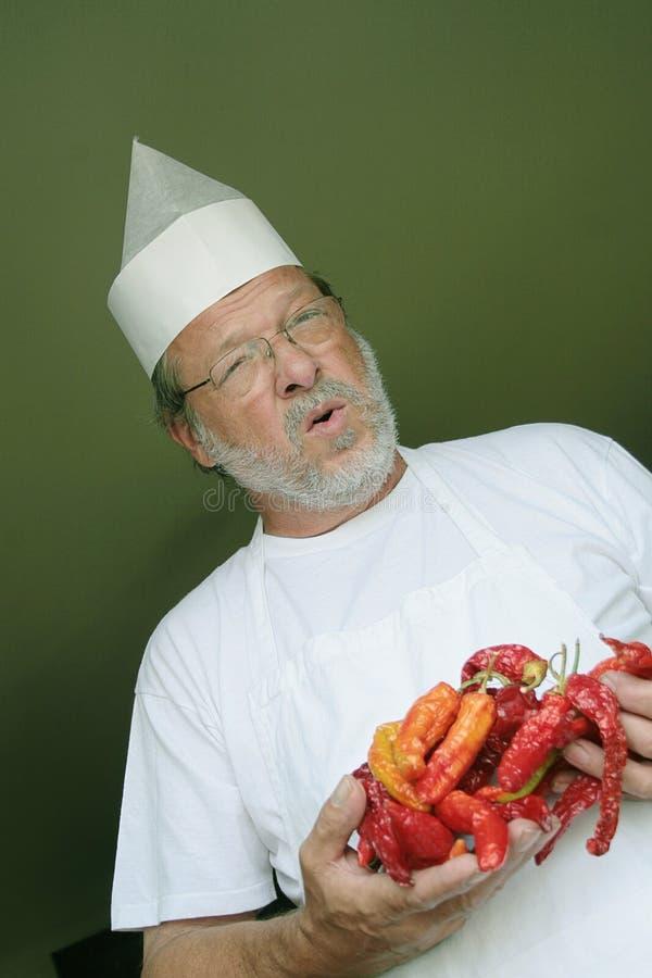 перцы кашевара chili стоковые фотографии rf