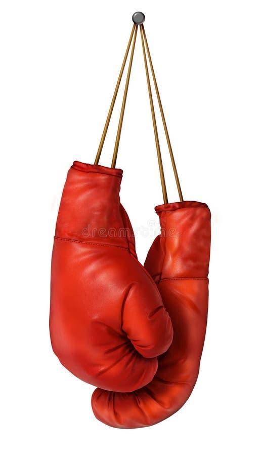 Висеть перчаток бокса иллюстрация вектора