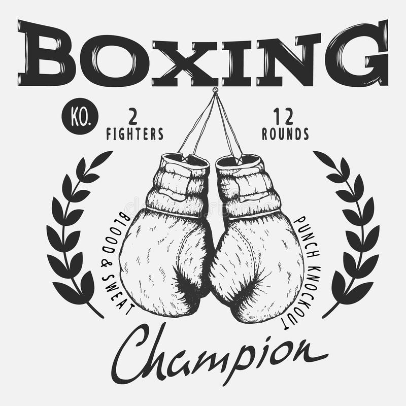 перчатки бокса старые иллюстрация штока