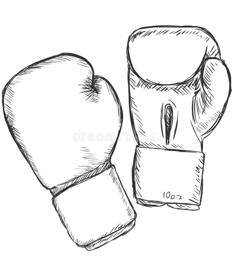 Рисунки боксерских перчаток в виде суммы