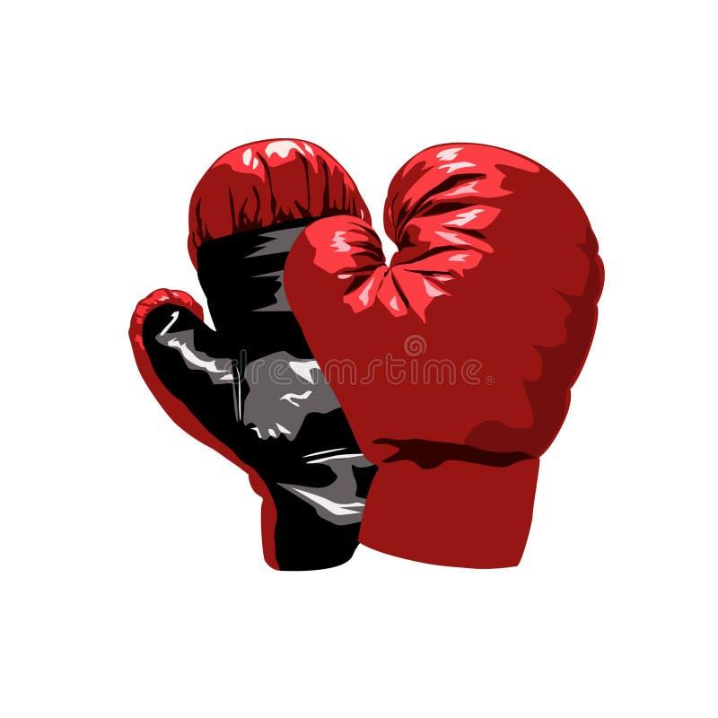 перчатки бокса иллюстрация штока