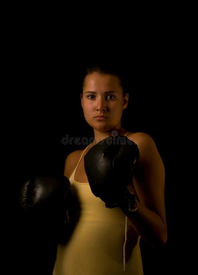 перчатки девушки стоковая фотография rf