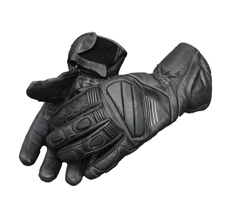 перчатки клиппирования изолировали заплату мотоцикла стоковые фотографии rf