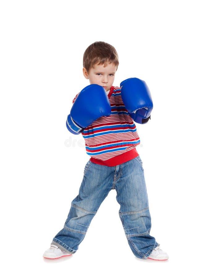 перчатки мальчика бокса немногая стоковое фото rf