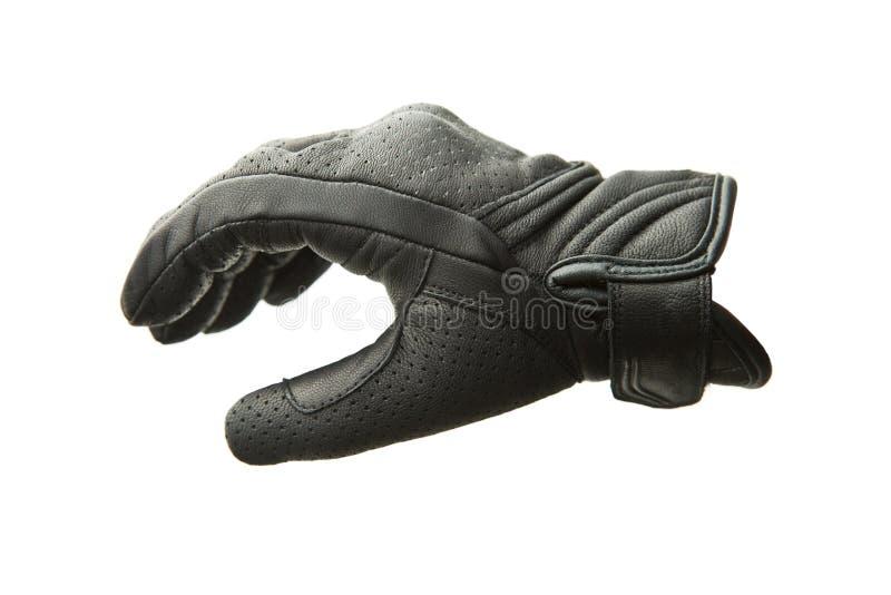 Перчатки мотоцикла кожаные стоковая фотография