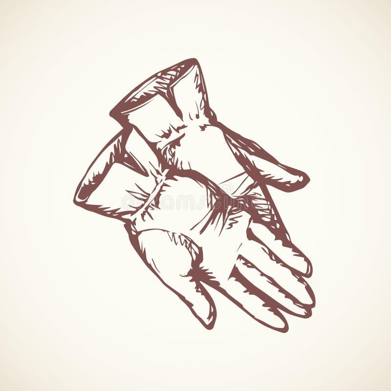 перчатки предпосылка рисуя флористический вектор травы бесплатная иллюстрация