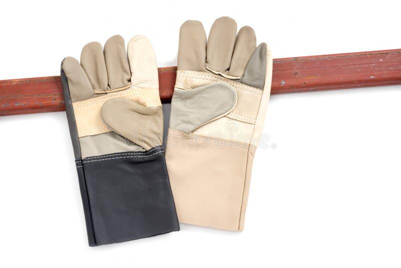 Перчатки с сталью стоковое фото