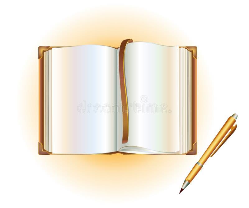 пер книги открытое иллюстрация вектора
