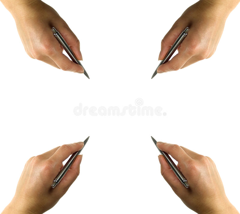 пер руки неподвижное стоковое фото