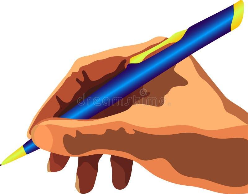 пер руки иллюстрация штока